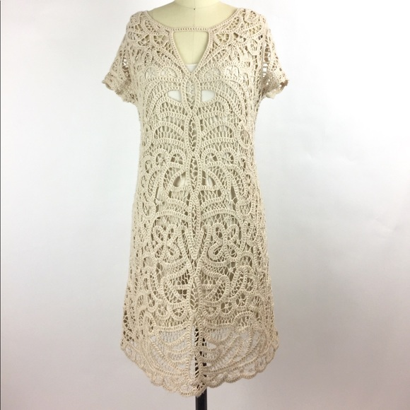 cb82f211084 BCBGMaxAzria Dresses   Skirts - BCBGMAXAZRIA Lalinda Lace Crochet Dress